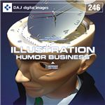 写真素材 DAJ246 HUMOR BUSINESS 【イラストシリーズ〜ユーモア ビジネス】
