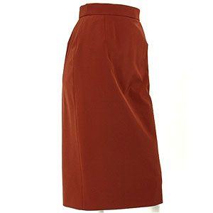 PRADA プラダ タイトスカート 81163 ポリエステル 赤茶色 イタリアサイズ38