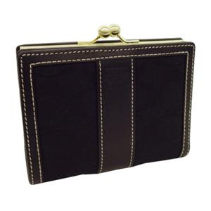 COACH (コーチ) ガマ口二つ折り財布 6K11 B4/BK