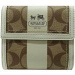 COACH(コーチ) 財布 41108 カーキ×ホワイト