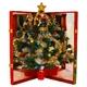 簡単!折りたたみクリスマスツリー『ハッピークリスマス』大     写真1