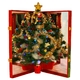 簡単!折りたたみクリスマスツリー『ハッピークリスマス』中 写真1