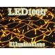 イルミネーションLED100灯10m連結可黄色 写真1