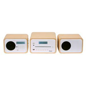 AIVN 2.0ch DVD/CD/SD/USB/AM/FMコンポ WE-SDV01 ナチュラルブラウン