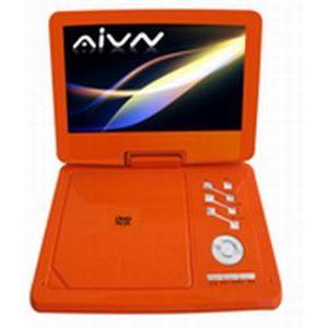 AIVN 9インチ ポータブルCPRMDVDプレーヤー オレンジ