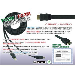 HDMIフラットケーブル 2m の詳細をみる