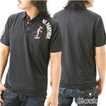 PINK PANTHER 『ダルファイン』ポロシャツ 12803339 ブラック LL