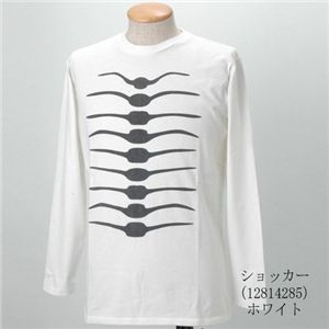 BANDAI ショッカースカルTシャツ 12814285 ホワイト L