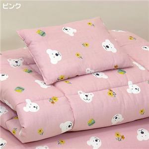 お子様用お昼寝布団4点セット ピンク