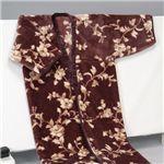アクリルニューマイヤー毛布かいまき ブラウン