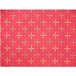 先染め刺子織こたつ布団カバー汚れを防ぐサロン2枚付き  ピンク 200×290