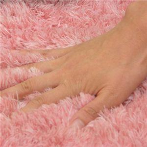 毛足の長いふかふかボリュームトイレタリーセット 洗浄型セット ピンク