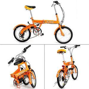 マイパラス 16インチ折り畳み自転車 M-09 オレンジ