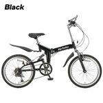 MY PALLAS 20インチ Wサス付き折りたたみ自転車 M-210BK ブラック