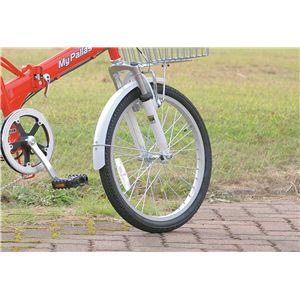 マイパラス M-60 折畳自転車20型・6SP・Wサス レッドホワイト