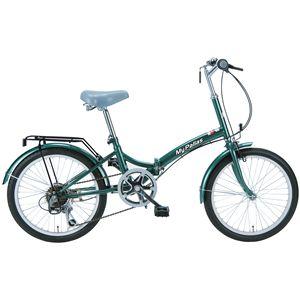 マイパラス M-30 折畳自転車20・6SP モスグリーンの詳細を見る