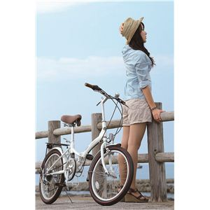 MYPALLAS(マイパラス) 折り畳み自転車 M-206 20インチ 6段変速 ホワイト