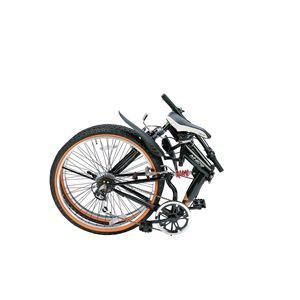 MYPALLAS(マイパラス) 折り畳み自転車 M-670 26インチ 6段変速Wサス オレンジ