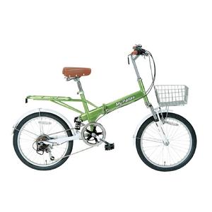 MYPALLAS(マイパラス) 折り畳み自転車 20インチ 6段Wサス M-60BGR ライトグリーン