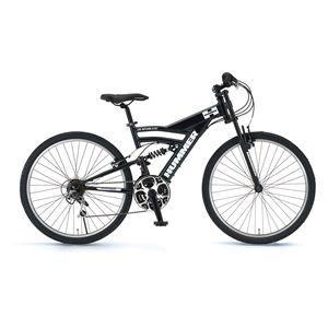 HUMMER(ハマー) 自転車 AL-ATB268 DH 26インチ ブラック 【マウンテンバイク】