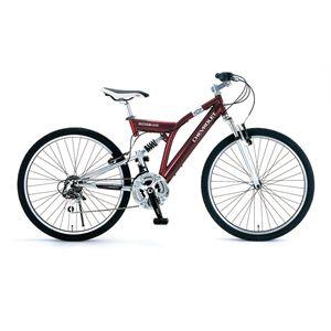 CHEVY(シボレー) 自転車 ATB 268 W-sus 26インチ レッド(簡易工具セット付き) 【マウンテンバイク】