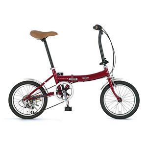 Mini(ミニ) 折り畳み自転車 FDB166 レッド
