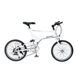 MYPALLAS(マイパラス) 折り畳み自転車 S-サイクル 20インチ 6段変速 M-705 ホワイト
