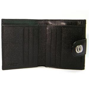 【決算特価】BVLGARI(ブルガリ) ドッピオトンド二折財布 26203/BLACK
