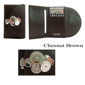 BVLGARI(ブルガリ) キーケース チクラディ 23950/Chesnut Brown