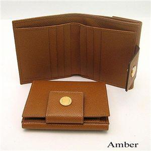 BVLGARI(ブルガリ) Wホック財布 20080/Amber
