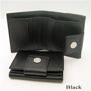 BVLGARI(ブルガリ) Wホック財布 20201/Black