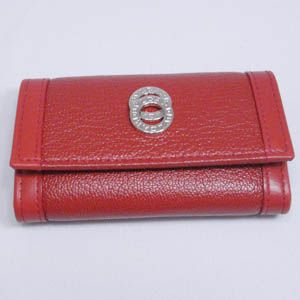BVLGARI(ブルガリ) #25282 Keyholder small 4 keys Goat leather red/calf leather red/P