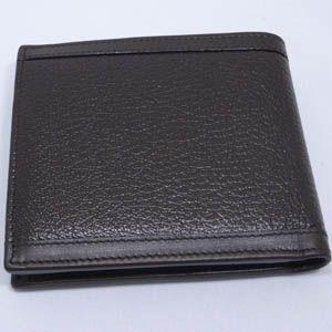 BVLGARI(ブルガリ) #25296 Man wallet italian with bills separation Goat leather dark brown/calf leather dark brown