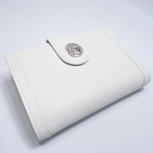 BVLGARI(ブルガリ) #25250 Woman wallet 2 folds with frame Goat leather chalk/calf leather chalk/P
