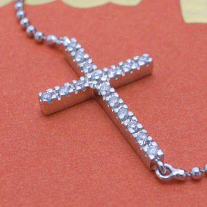 01フォリフォリ/Folli Follie ダイヤモンド クロス ブレスレット/2B4W040C