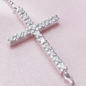 02フォリフォリ/Folli Follie ダイヤモンド クロス ブレスレット/2B4W040C