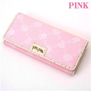 Folli Follie(フォリフォリ) ジャカード長財布 WA7M011SP/Pink
