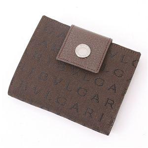 BVLGARI (ブルガリ) ダブルホック財布 LETTERE 22596・Chocolate