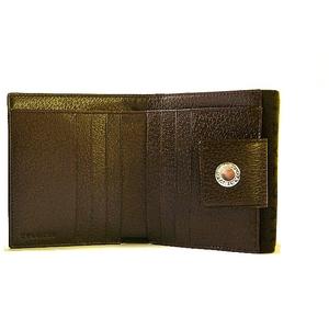 Bvlgari(ブルガリ)ダブルホック財布 LETTERE 22596 Chocolate