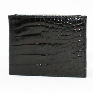 【訳アリ】BVLGARI(ブルガリ) 20314 財布 Man's wallet bills & 6CC small/ black croco. Shi