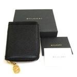 BVLGARI(ブルガリ) メモ帳用カバー 25390 ブラック(カードホルダーセット)