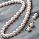 花珠本真珠 7.5-8mm ネックレス+イヤリング2点セット