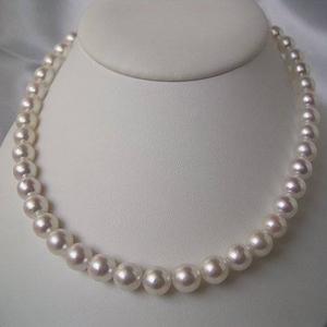 和珠本真珠 9.0〜9.5mm パールネックレス