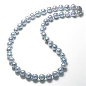 あこや真珠(大珠) 8.5〜9mm ナチュラルブルーバロックパールネックレス