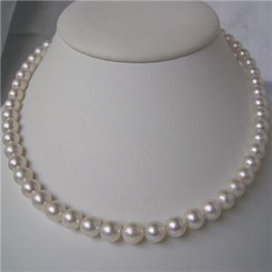 和珠本真珠 7.5〜8.0mm パールネックレス&パールイヤリング