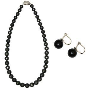 【鑑別付】タヒチ産真珠 T-1 8〜10mm ネックレス+イヤリングセット(ケース付)