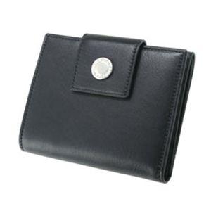 BVLGARI(ブルガリ) 二つ折小銭付き財布 21459 ソフトレザー/黒