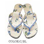 La Cotone ミュールサンダル ブルー 【L】24.0cm