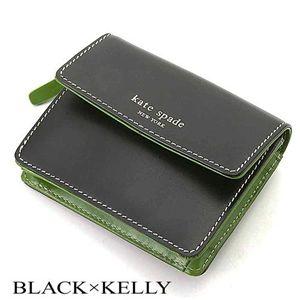 kate spade(ケイトスペード) キーリング付コインケース AS005070 BLACK×KELLY/038