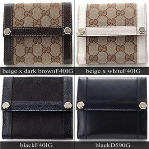 GUCCI(グッチ) GGキャンバス 折り財布154117D590G ブラック